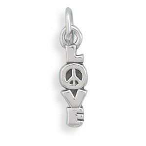 Excited to share the latest addition to my #etsy shop: Love Charm with Peace Sign, Bracelet Charm, Chain Necklace Pendant, Jewelry, Accessory, Peace and Love, Hippy Jewelry, Sterling Silver Love  https:// etsy.me/2VC69En  &nbsp;   #supplies #silver #valentinesday #kidscrafts #love<br>http://pic.twitter.com/30ZrU49uNe