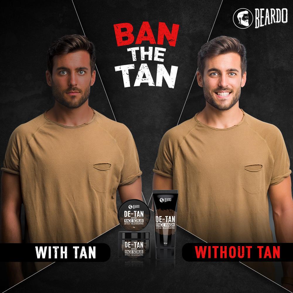 Nobody is a fan of tan! Get it from here 👉🏻 http://bit.ly/2Ip1IsF  #Beardo #BeBeardo