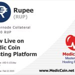 Image for the Tweet beginning: #Rupee (RUP) is now listed