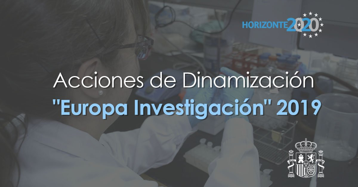 Ya está abierta la convocatoria de Acciones de Dinamización Europa Investigación 2019.  Financia la preparación de propuestas de proyectos transnacionales liderados por españoles en las convocatorias del programa @EU_H2020.  🗓️ Hasta el 25 de abril ➡️ http://bit.ly/2uVRzvq
