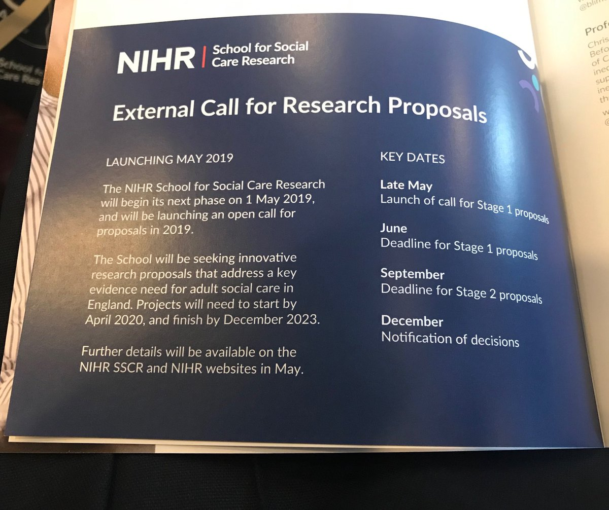 test Twitter Media - #SSCR2019 Advance notice of call for research in adult social care research in England. Do share/RT. ⁦@NIHRSSCR⁩ ⁦@OfficialNIHR⁩ ⁦@NIHRINVOLVE⁩ ⁦@NIHR_RDS⁩ https://t.co/xsNVZguxD9