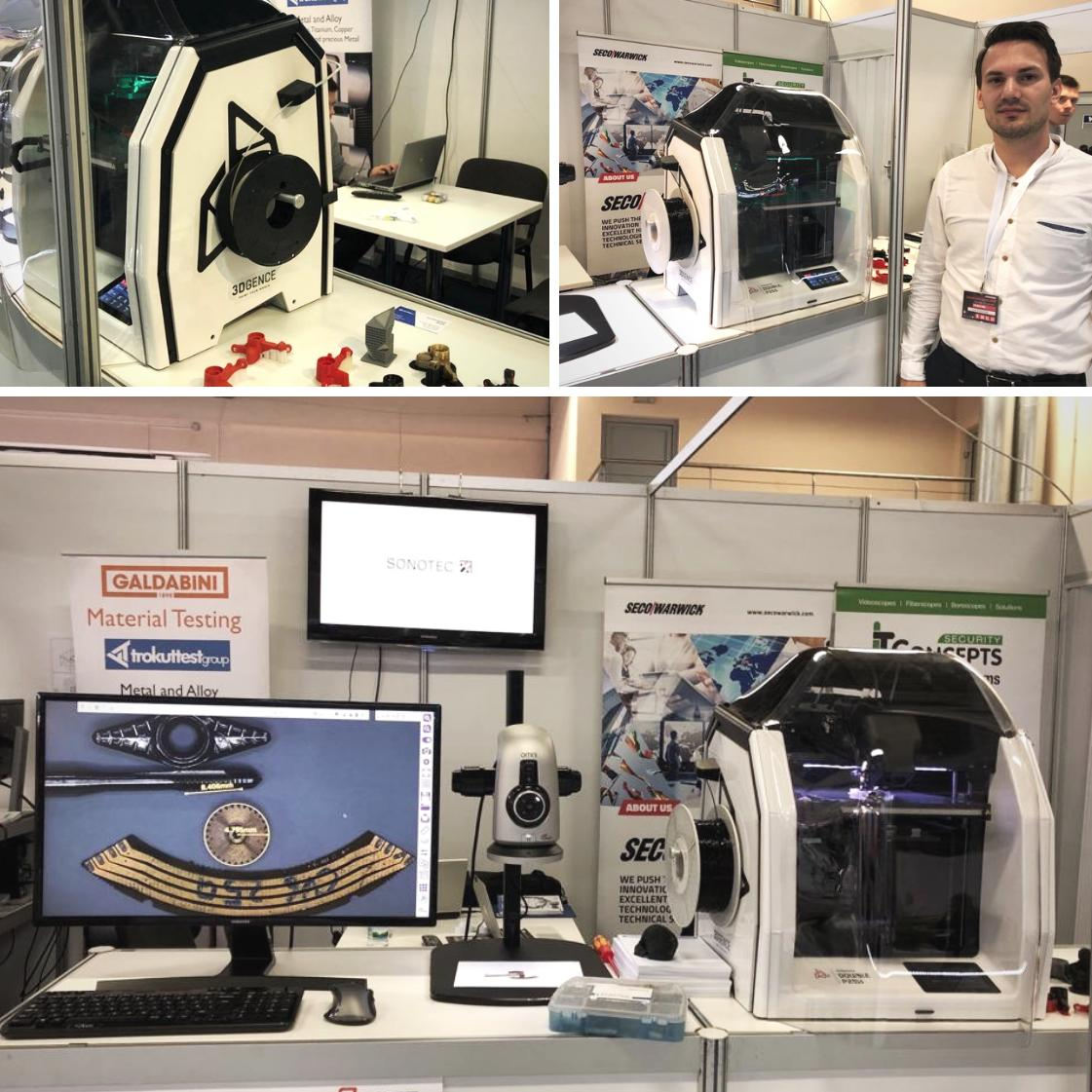 Meet #TrokutTestGroup, our official #3Dprinters' distributor from #Croatia during International Industry Fair 2019 in #Celje Fair Plc. It's a great chance to see in action #3DGence DOUBLE P255!