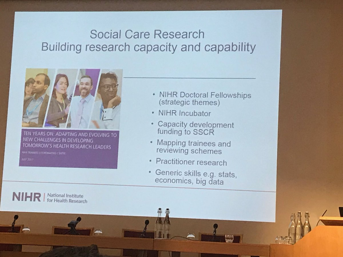 test Twitter Media - #SSCR2019 new ⁦@NIHRAcademy⁩ ⁦@OfficialNIHR⁩ funds for capacity development and career development in social care research. This is a big deal. #socialcare https://t.co/CJdWiFoxqu