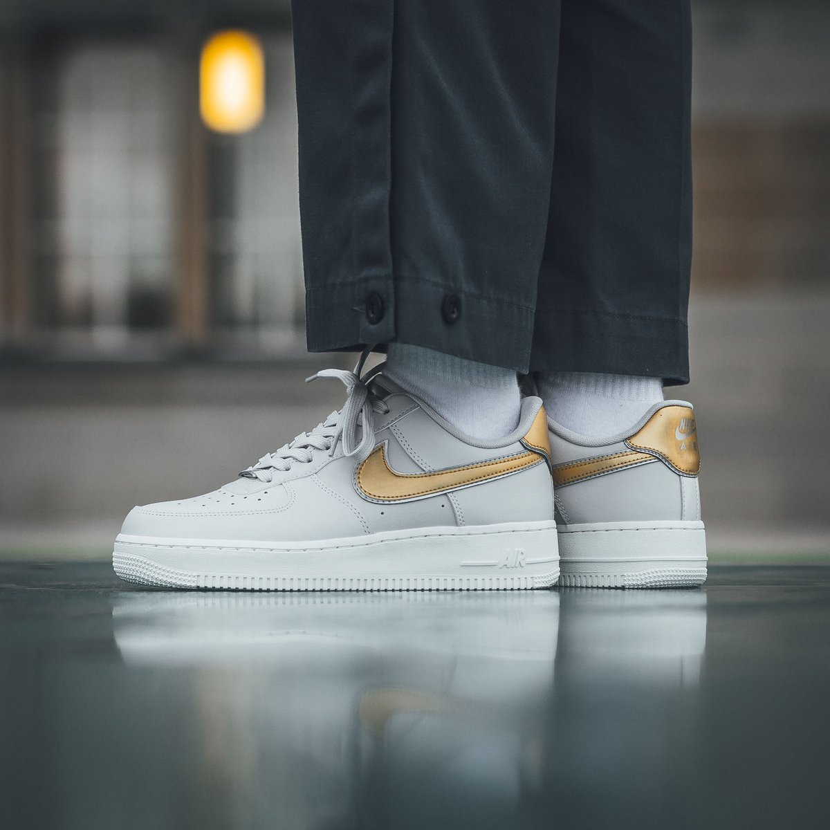 cheap for discount 98977 e7da3 NOW on  sale ✨ Nike Wmns Air Force 1  07 Metallic - Vast Grey