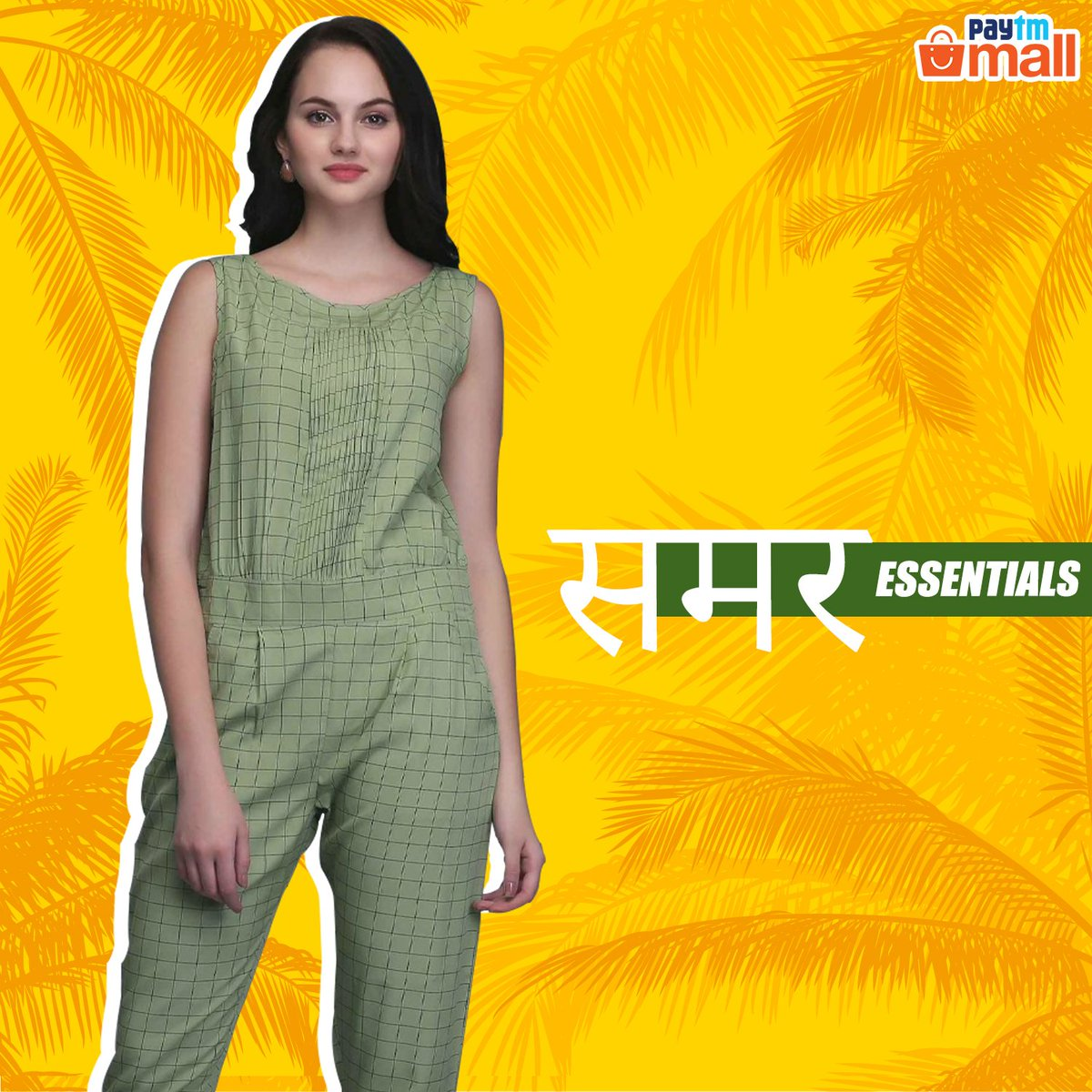 86b7d1881941 Get the look and be the summer stunner of the season. Shop the outfit now  at Paytm Mall. #Women #Jumpsuit #fashion http://pytm.ml/wjst  pic.twitter.com/ ...
