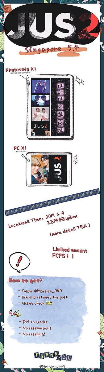 [help RTThanks!]               Fansupport Giveaway  JUS2 Showcase in Singapore   - Follow, like & retweet - Time & location TBA - ticket check   Check the pics for more details! Hope y'all like it! See you there ^_^ #JUS2inSG #JUS2_FOCUSTOURinSG #JUS2inSingapore <br>http://pic.twitter.com/KgauTXXByj