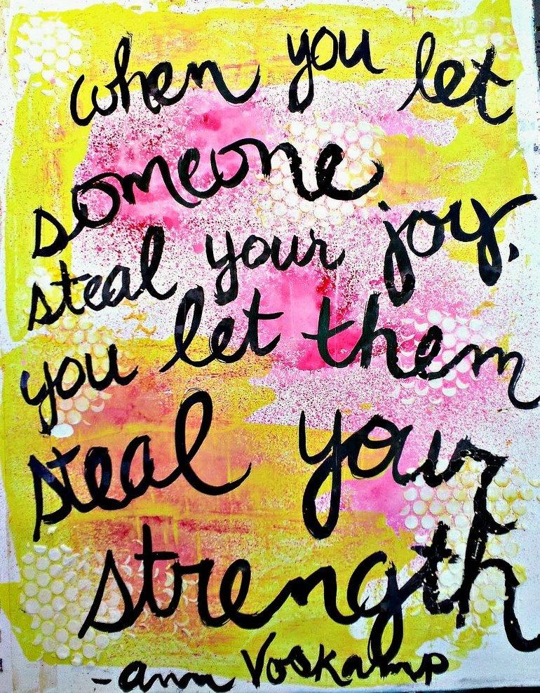 Don't let anyone steal your #JOY!   #JoyTrain #Love #Peace #Kindness #MentalHealth #Mindfulness #GoldenHearts #IAM #ChooseLove #Quote #IAmChoosingLove #kjoys00 #TuesdayMorning #TuesdayThoughts #TuesdayMotivation RT @MsLeyla777
