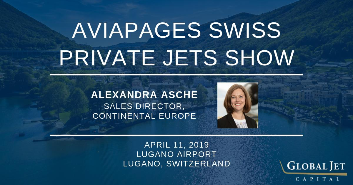 Catch Global Jet Capital's Alexandra Asche sharing her expertise today at the 2019 @AviapagesCom Swiss Private Jets Show at the Lugano Airport in Switzerland. #bizav #aviation #businessaviation