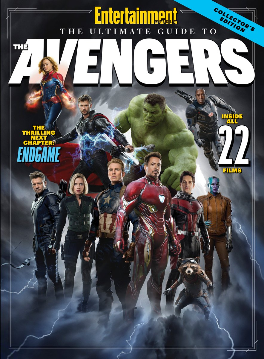 Here's your look at the @EW special issue cover for Marvel Studios' #AvengersEndgame.   Read more: https://ew.com/movies/2019/04/11/ultimate-guide-to-the-avengers/…