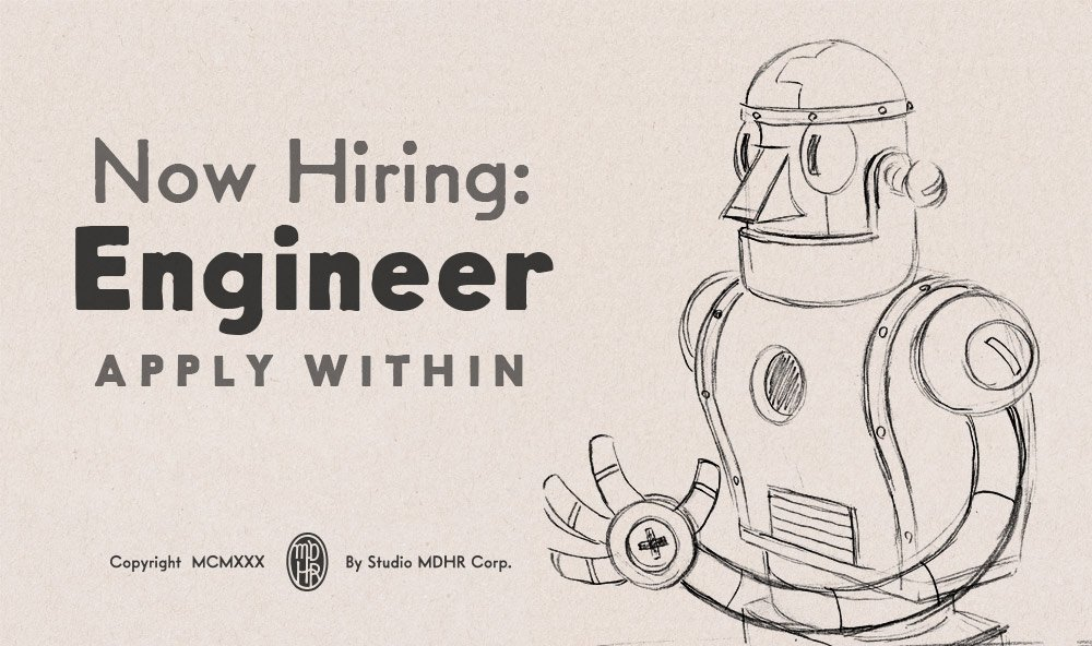 We're looking for a skilled programmer to help us build all sorts of exciting things! Ideally someone in the Greater Toronto Area. Read all about the position here: http://studiomdhr.com/careers/