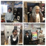 Image for the Tweet beginning: Living biographies by 6th grade
