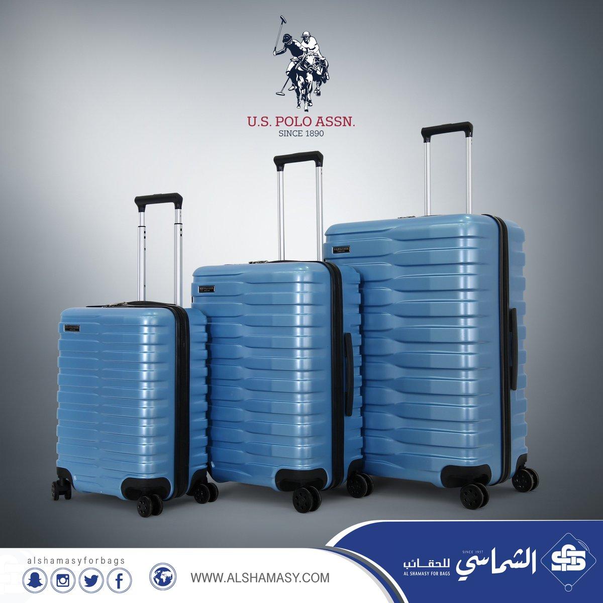 b176197a7 وصل حديثاً طقم حقائب سفر ماركة يو اس بولو اسسن مصنوعة من البولي كاربون  مقسمة من