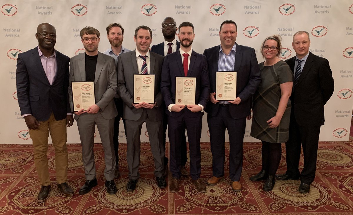 Brilliant bronze   Bronze awards for four sites on the western section of the @TidewayLondon #SuperSewer project at the 2019 @CCScheme National Site Awards, Carnwath Road, Hammersmith, Barn Elms, and Dormay Street    #ccsawards #loveconstruction 👏