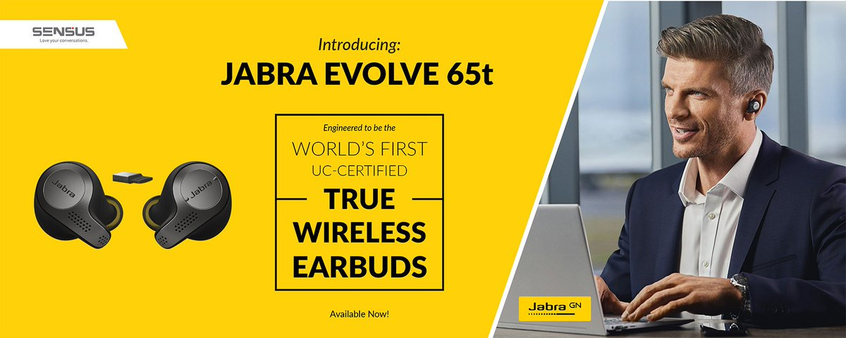 Sensus Communication Solutions On Twitter The Jabra Evolve 65t Are Truly Wireless Headphones Made For Office Free Yourself Of All Cables With This Uc Certified Business Device Available From Sensus Now Https T Co Rejljkv34x Https T Co