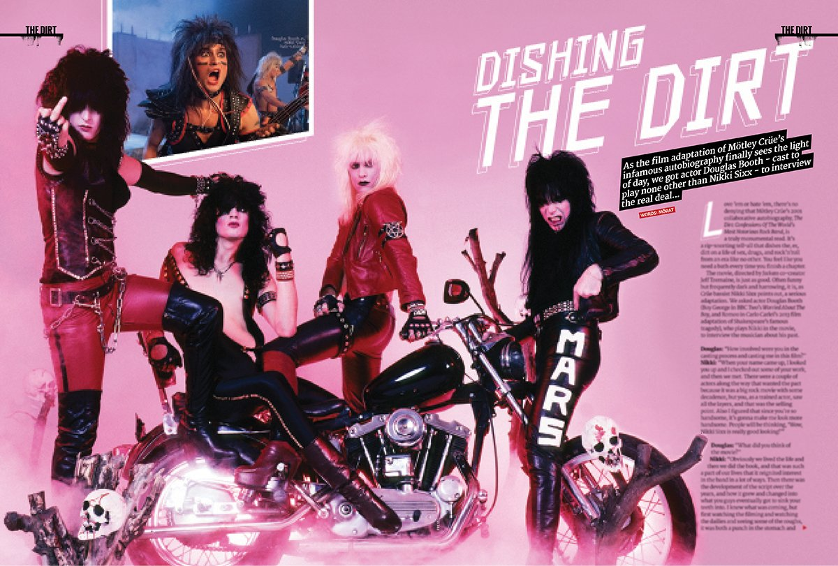 In the new issue, we got Douglas Booth, who plays Nikki Sixx in new Mötley Crüe movie The Dirt, to interview the real deal! Out now. #TheDirt #MotleyCrue #DouglasBooth