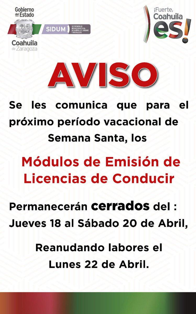 Sidum Coahuila On Twitter Atento Aviso La Subsecretaria