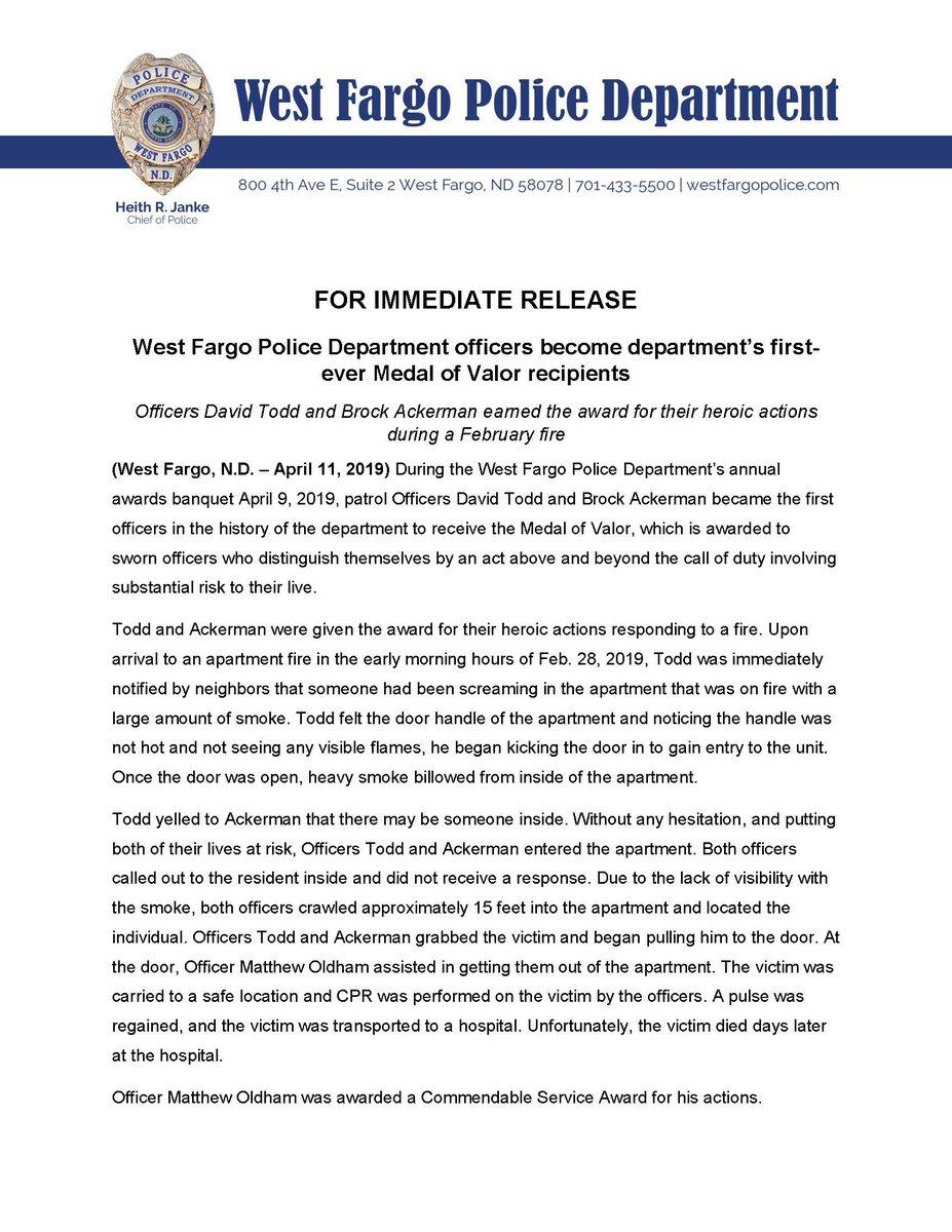 West Fargo Police (@WestFargoPolice) | Твіттер