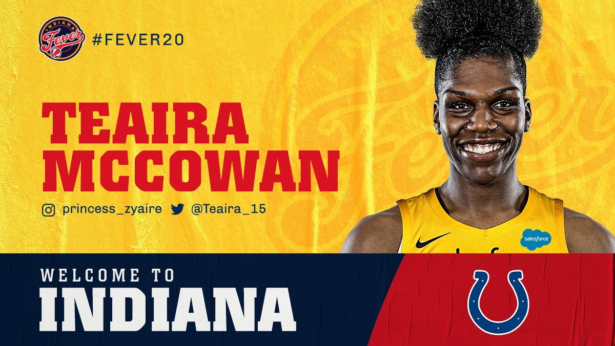 Welcome to Indy, @Teaira_15! #Fever20 | #ColtsForged