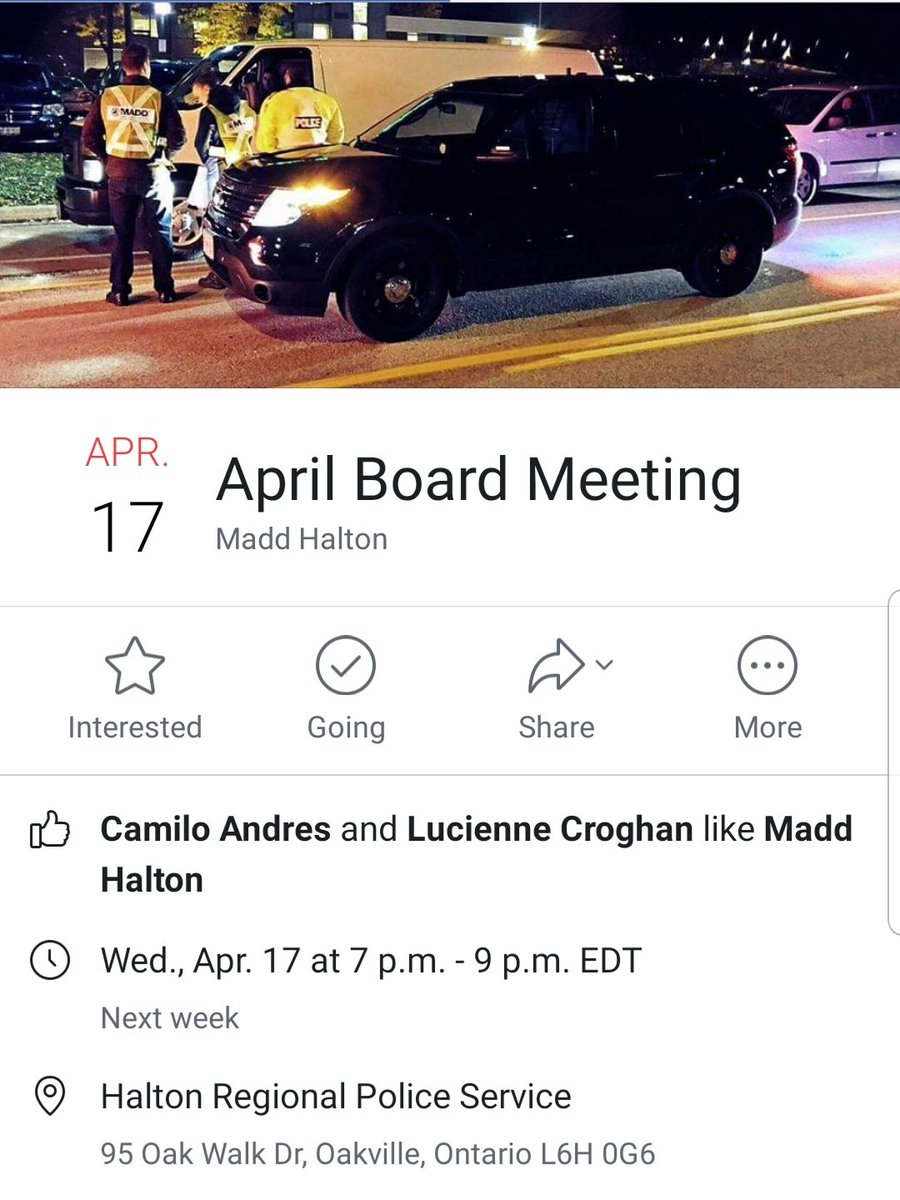 #NationalVolunteerWeek continues!  Look to get involved in your community? Come visit us at our monthly board meeting next week! #campaign911 #stopimpaireddriving #haltonregion