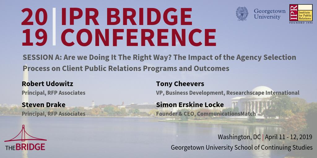 2019 IPR Bridge PR and Communications Conference