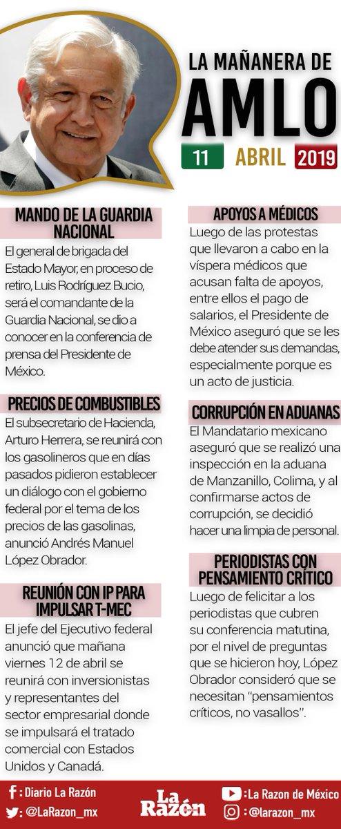 La Razón de México's photo on #conferenciamañanera