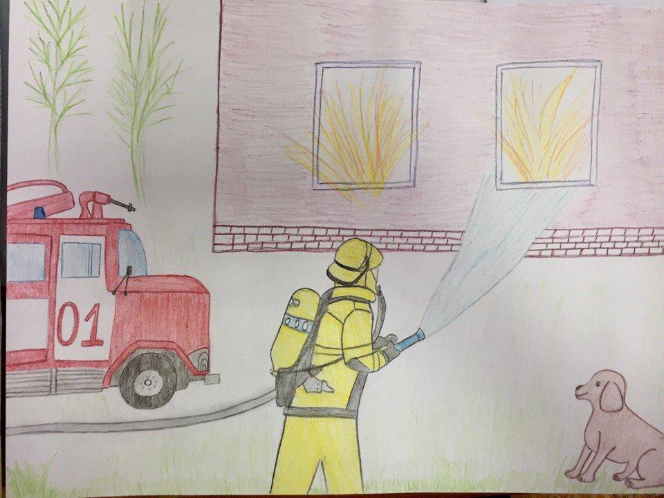 картинки ко дню пожарной охраны нарисовать кортике