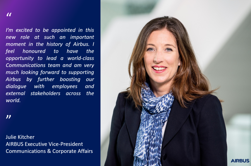 Airbus names Julie Kitcher EVP Communications and Corporate Affairs http://bit.ly/2P5q7or