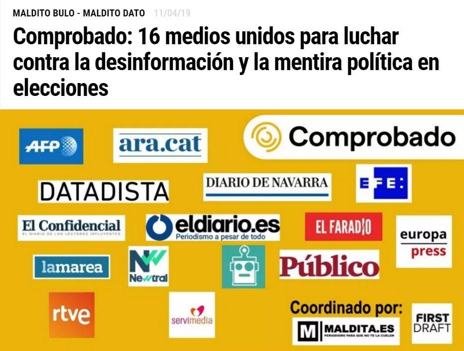 Nace #Comprobado @ComprobadoEs https://www.youtube.com/watch?v=3pUV-Hq64Kc… https://crosscheckhq.com/project/comprobado/?lang=es…: 16 #medios unidos para luchar contra la #desinformación y la #mentira #política #MentirasPolíticas en #elecciones #EleccionesGenerales http://bit.ly/comprobando16