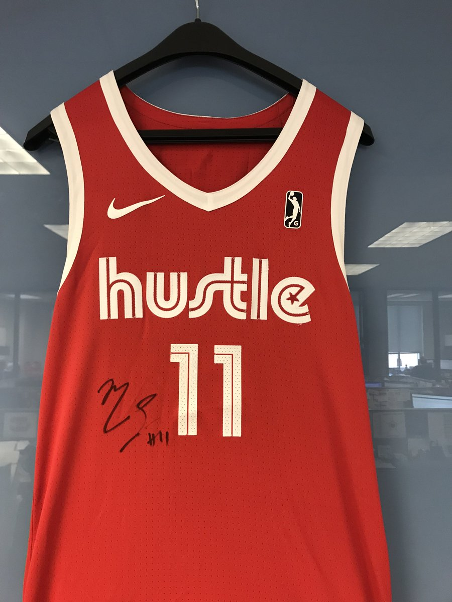 🚨🚨 GIVEAWAY ALERT 🚨🚨  We've got a ONE-OF-A-KIND @mconley11 signed Hustle jersey - do y'all want it??  RT to win #JrNBACOYMEM