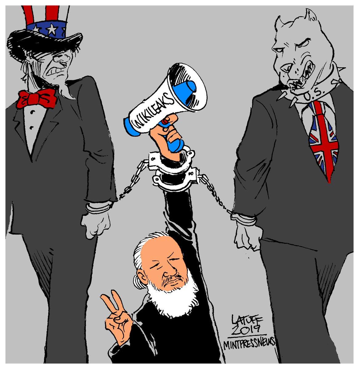 Арест Ассанжа в карикатуре
