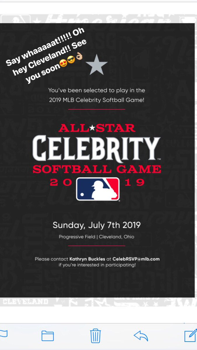 Could not be more excited!! Coming home for MLB All-Star!!😍🎉now gotta find my glove 😳 btw anyone else remember that @Abercrombie outfit from middle school??😂lived at the field. Normally in actual uniform except when the 1st base coach doesn't show up at your sis's game🤦🏼♀️@MLB