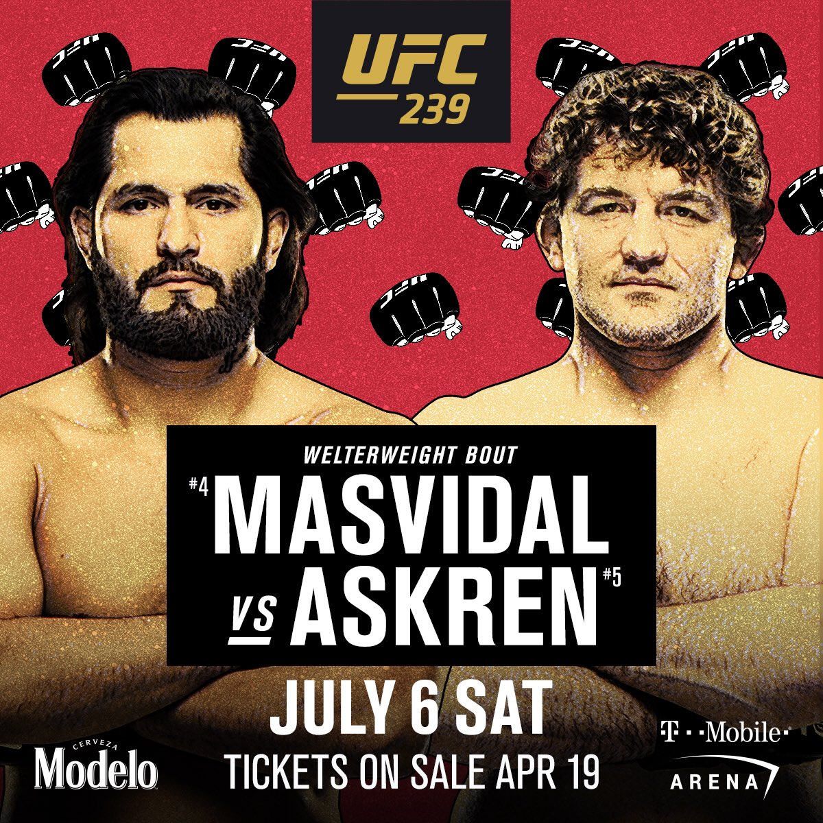 STACKED 📚 @GamebredFighter meets @BenAskren at #UFC239 during International Fight Week! #UFCFightWeek