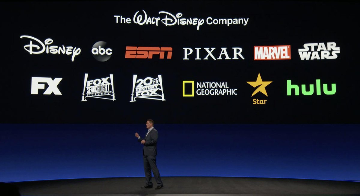 "Andrés Olascoaga sur Twitter : ""Disney, ESPN, Marvel, Star Wars, Pixar,  20th Century Fox, National Geographic, FX... Esto es la cartera principal  de The Walt Disney Company. #DisneyInvestorDay… https://t.co/uItt9Y2tIN"""