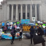 Image for the Tweet beginning: Live at the capitol, #WAyouth4climate