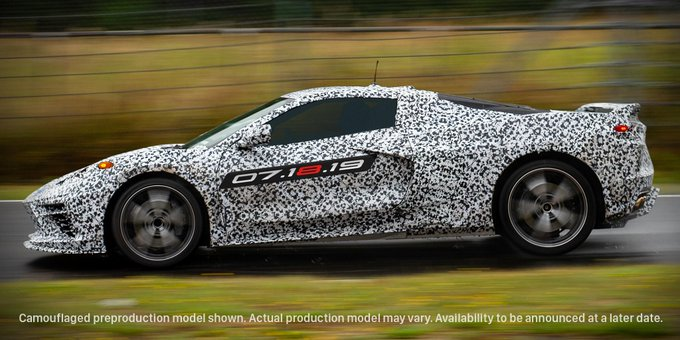 Gm Just Announced The Launch Date Of The Mid Engined 2020 Chevy C8
