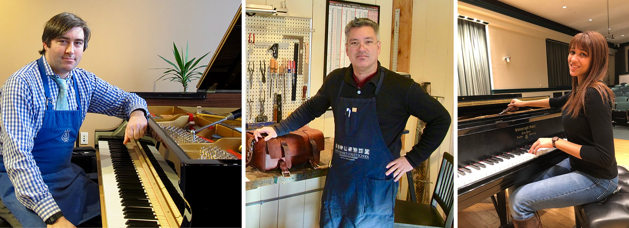 @NBSSboston @PianoBuyer follows the path of 3 #PianoTechnology #NBSSalumni – Erik Diehl PT '08, PA '09, Sean Mallari PA '06, and Renée Kelsey PT '17, PA '18 – who've found being a #pianotechnician provides passion & fulfillment they hadn't found in previous careers. hubs.ly/H0hqp5s0