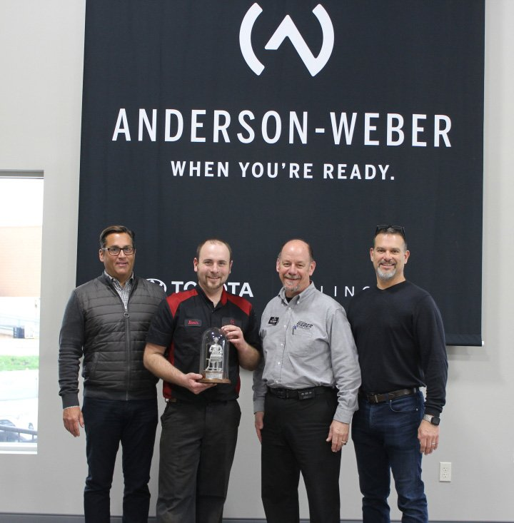 Kevin Steffen Mike Neyens Achieved Their Lincoln Senior Master Technician Certifications And Steve Newton Is Celebrating His 10th Year As A