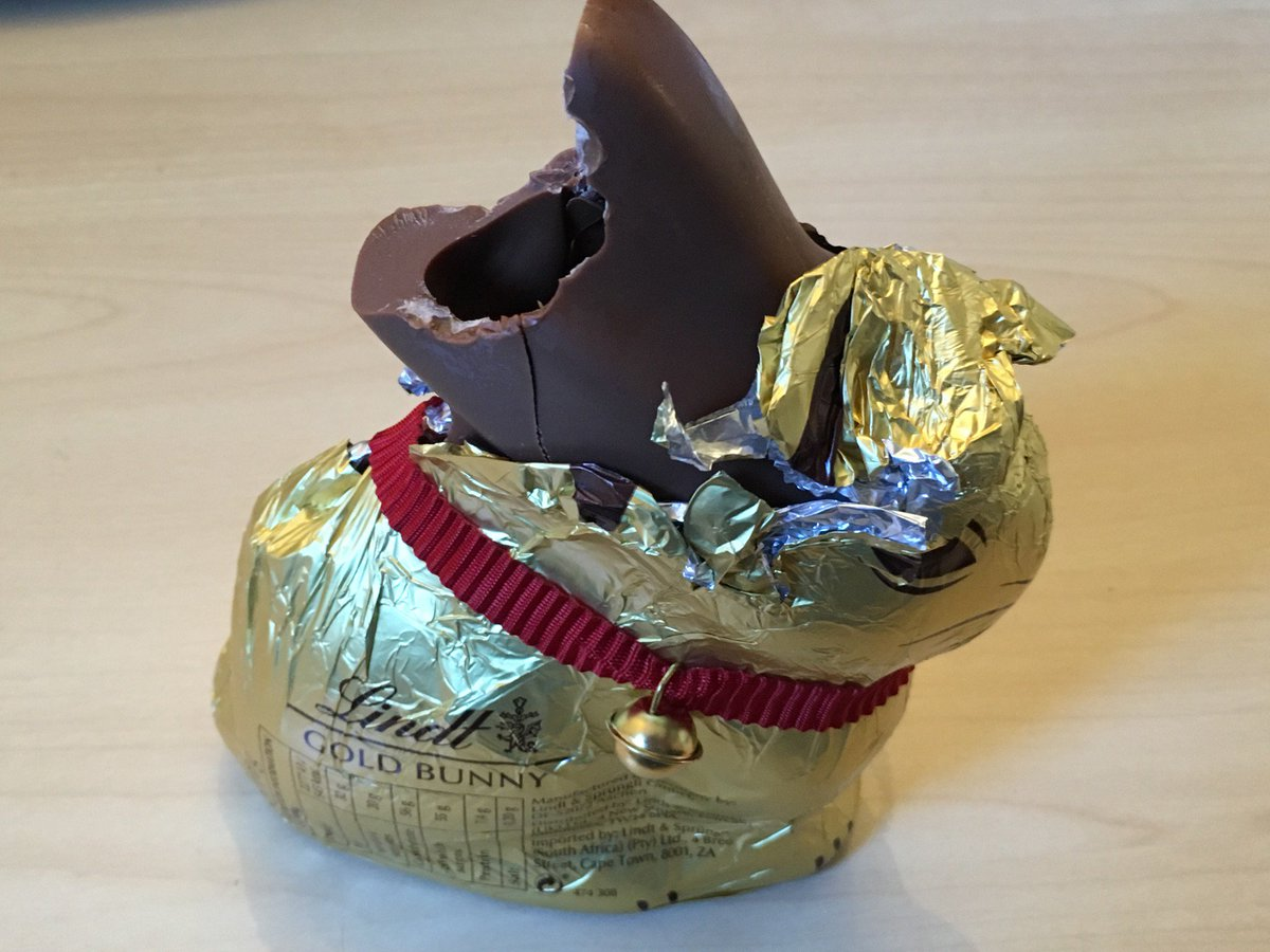 It was supposed to be for my nephew for Easter, but I couldn't resist ... #ChocolateTemptation