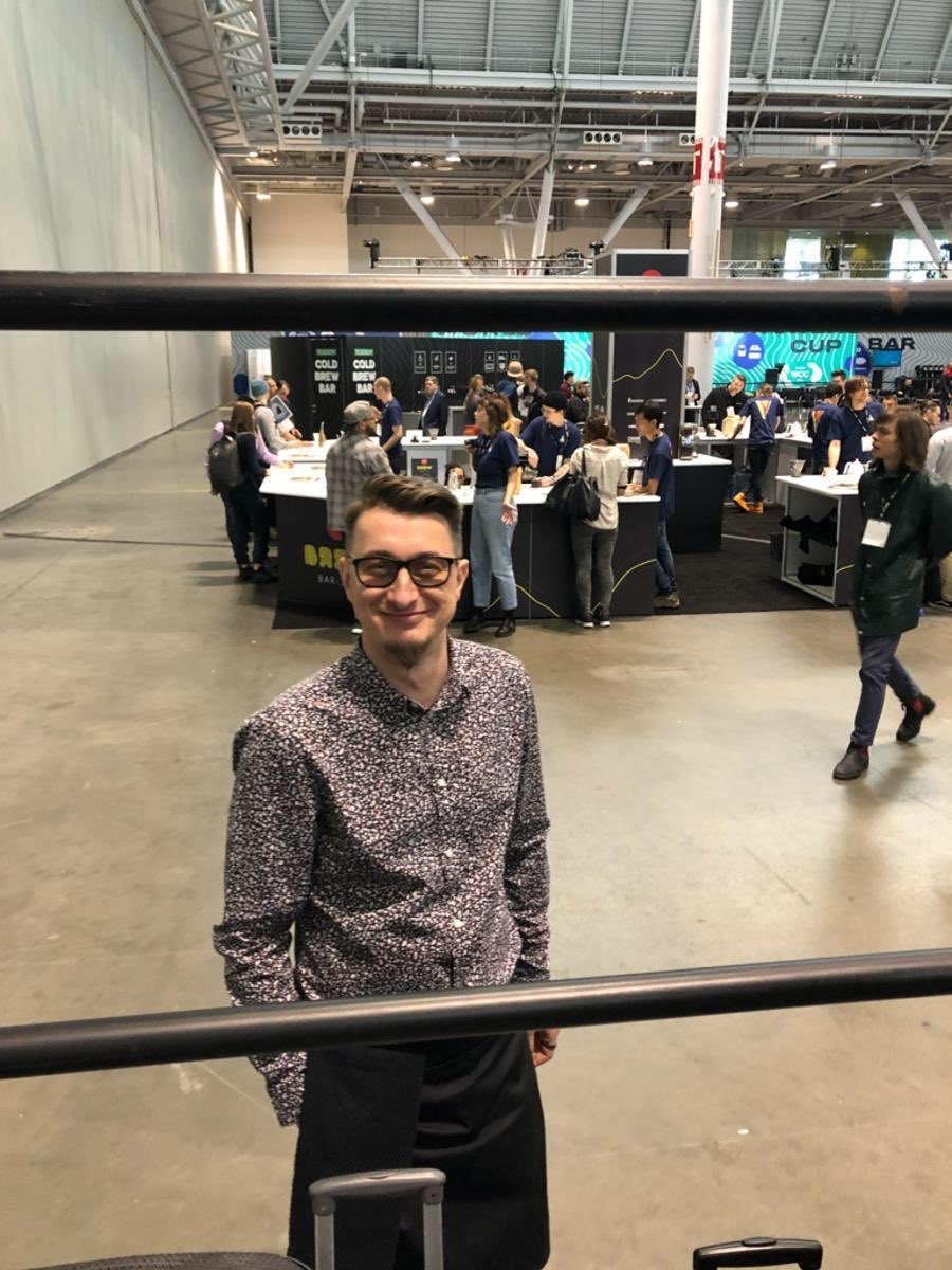 We wish Wojciech the best of luck with his performance! @SCA_Ireland @WCoffeeEvents #BostonWCC #CoffeeExpo2019 ☘️☕️🤞🏽🏆