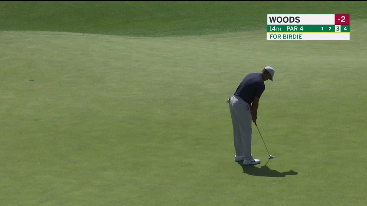 Video: Tiger Woods Now Tied For The Lead At The Masters
