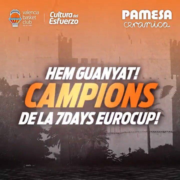 🔥🔥🔥🔥🔥🔥 ¡¡LO TENEMOS!! ¡¡CAMPEONES DE LA 7DAYS EUROCUP!! ¡¡DISFRUTA FONTETA!! ¡¡DISFRUTA #FAMILIATARONJA!! 🧡  🔥 #DefensemLaFonteta @valenciabasket 89 🆚 @albaberlin 63 🏆 P3 @EuroCup F