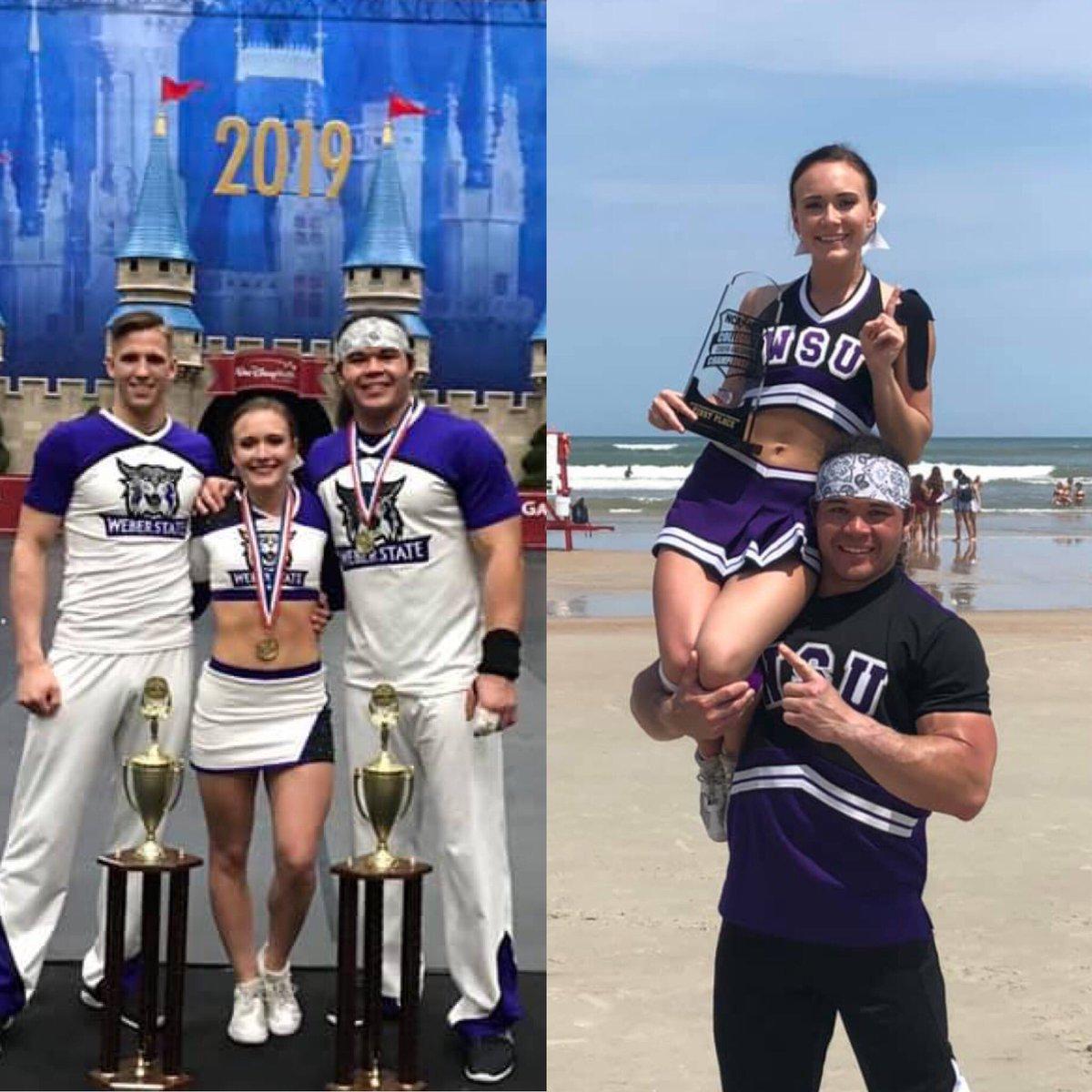 cd9ca42dd1b ... Central Cheer Alumni Mekenzie Grabau and her coed partner for winning  both the 2019 UCA and NCA Coed Partner Stunt National Championships this  season.