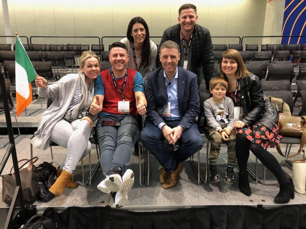 We're here cheering Wojciech on with his wife and son! We're so proud of Wojciech and we know he'll give the performance his all @WCoffeeEvents @SCA_Ireland #BostonWCC
