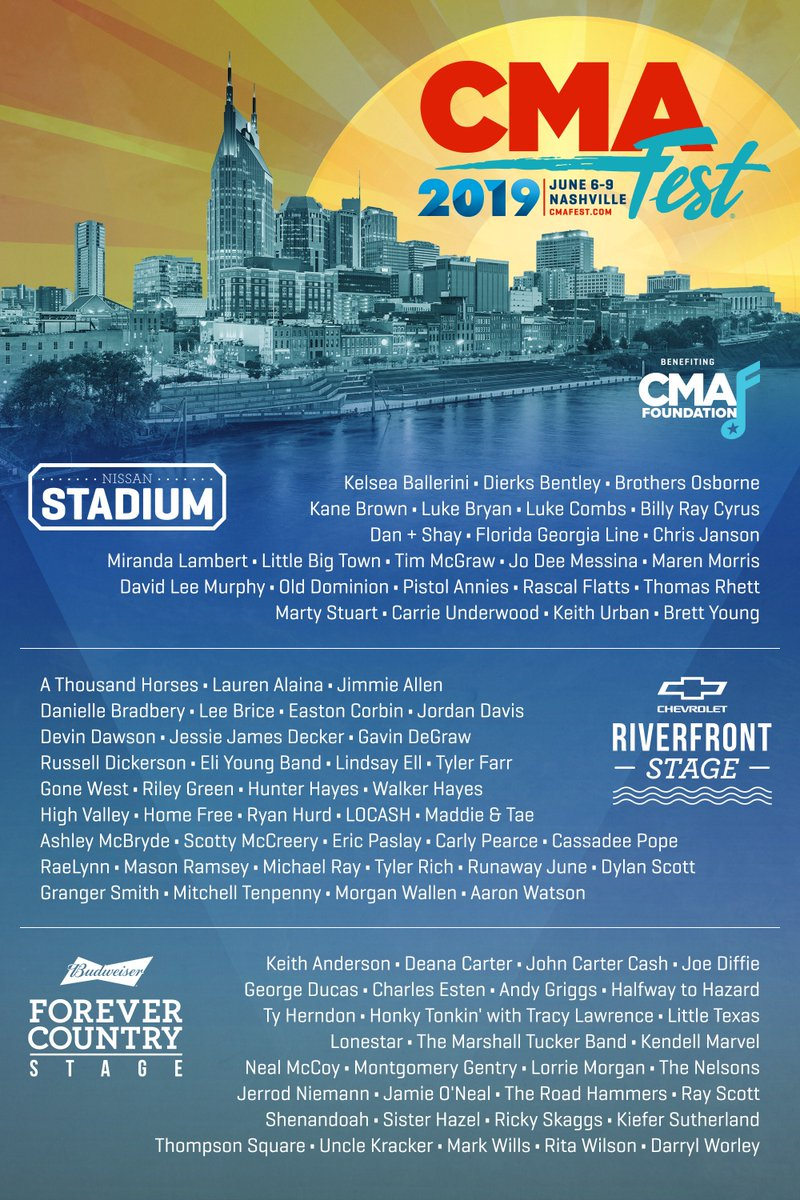 38ee7efd5bd07 ICYMI  New additions have been made to the nightly concerts at Nissan  Stadium! Get your four-day passes to  CMAfest now before they sell out! ...