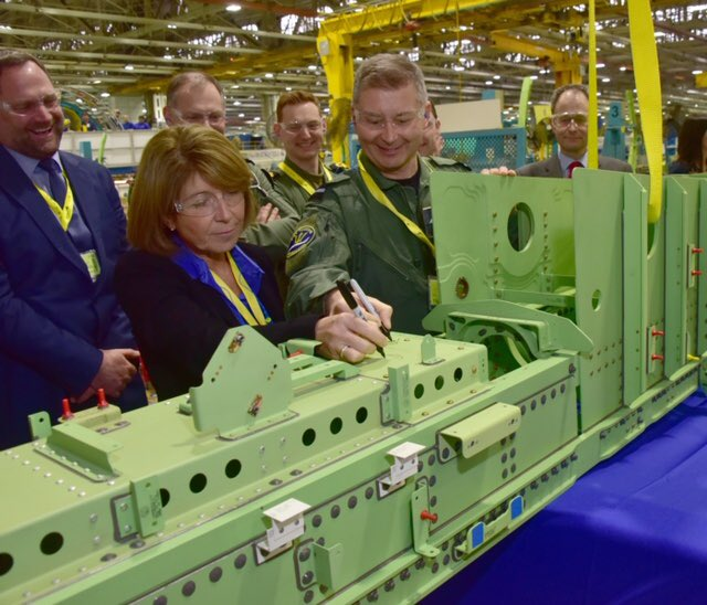 The first UK P-8A Poseidon fuselage has been signed, sealed, and is being delivered by train from Spirit Aerosystems to @BoeingDefense, in Renton, for the next stage of production. #ItsComing