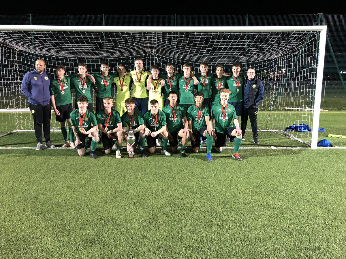Congratulations to @RCTSFA @AcademyCambrian U16 on winning the second leg tonight 3-2 v @CVSFA in a highly contested match. RCT take home the coveted @WSFA_InterAssoc George Griffiths National U16 Cup  Da iawn 👏  ⚽️🏴🏆