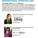 Image for the Tweet beginning: Do you enjoy hearing stories