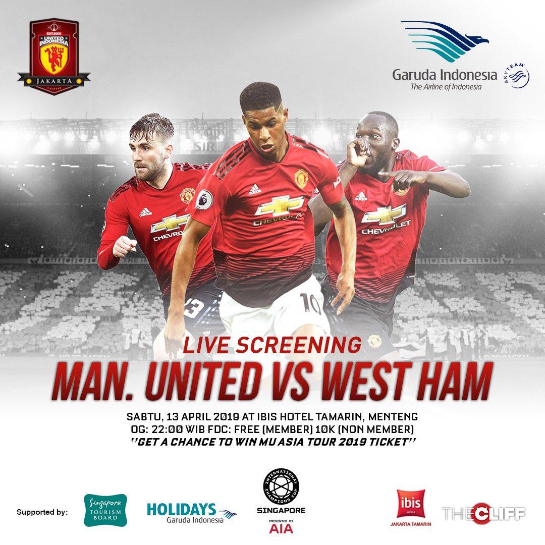 Mau hadiah menarik? Atau mau Ikut tour Manchester United di Singapore nanti? Yuk langsung datang ke #LiveScreening #UIJKT bersama @IndonesiaGaruda dan @VisitSingapore Sabtu ini di Hotel Ibis Tamarin, open gate jam 22.00wib. See you there!   #UIJKT