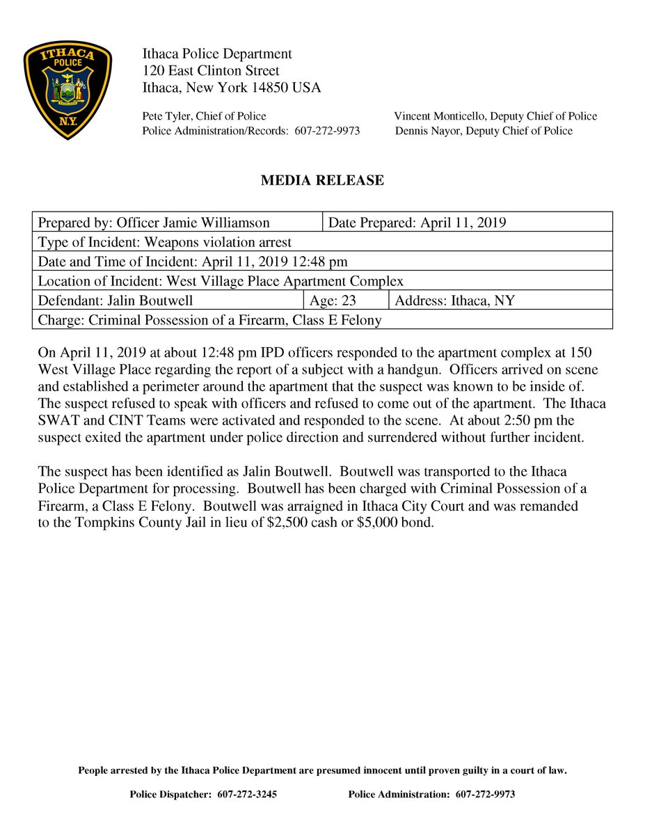 Ithaca Police (@ithacapolice) | Twitter