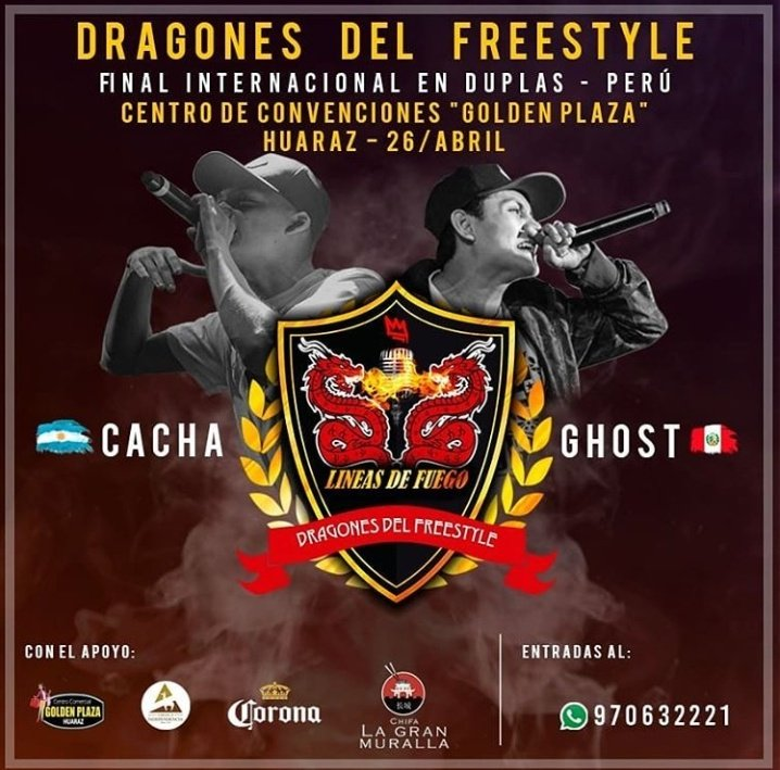 DUPLA CONFIRMADA:  - CACHA 🇦🇷 + GHOST 🇵🇪  #DragonesDelFreestyle 🏆